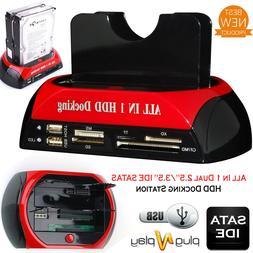 USB 2.0 HDD Docking Station IDE SATA Dual USB Clone Hard Dri