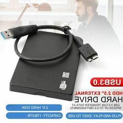 """1TB 2.5"""" External Hard Disk Drive USB 3.0 HDD SATA3.0 Portab"""