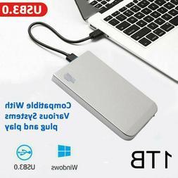 "1TB Portable External Hard Drive USB 3.0 High Speed 2.5"" HDD"