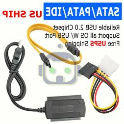 """2.5"""" SATA TO USB 2.0 Cable Serial ATA Adapter For HDD/SSD"""