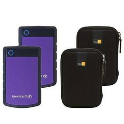 2 Transcend 4TB StoreJet 25H3 External Hard Drives  + 2 Case