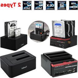 2.5''/3.5''Hard Drive Card Reader External Triple SATA IDE H