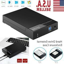 """2.5"""" 3.5 inch Hard Drive External Enclosure SATA to USB 3.0"""