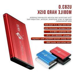 """2.5"""" External 1TB Hard Disk Drive USB 3.0 Ultra Slim Data Tr"""