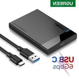 "UGREEN HDD Enclosure 2.5"" Inch Sata USB 3.0 Hard Drive HDD C"