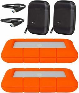 LaCie 2 Pack 4TB Rugged Mini USB 3.0 Portable External Hard