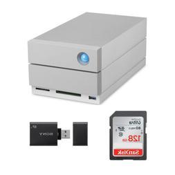 LaCie 2big Dock Thunderbolt 3 16TB Hard Drive with 128GB SD