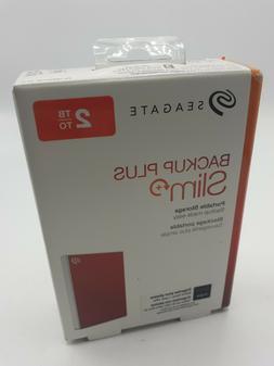 Seagate 2TB Backup Plus Slim USB 3.0 External Hard Drive, Re