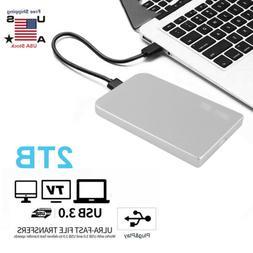 "2TB USB 3.0 Portable 2.5"" External Hard Drive Ultra Slim For"
