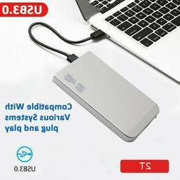 """USB 3.0 SATA 2.5"""" 2TB External Mobile Hard Drive Storage Dev"""