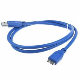 3ft USB 3.0 Power Charger Data Cable Cord for Verbatim Exter
