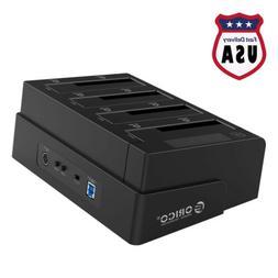 """4-Bay SATA 2.5"""" 3.5"""" Hard Drive Clone Docking Station USB3.0"""