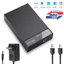 "USB 3.0 2.5"" 3.5"" inch SATA Hard Drive Disk External Enclosu"