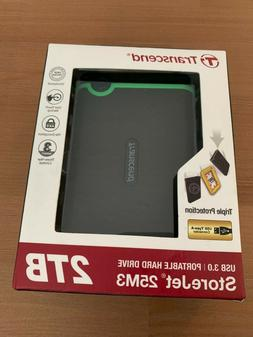 Transcend 2 TB StoreJet M3 Military Drop Tested USB 3.0 Exte