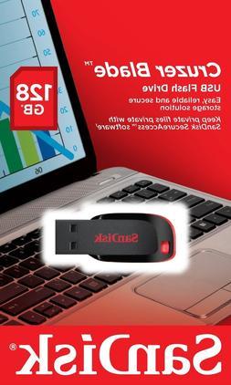 SanDisk 128GB Cruzer 128G Blade SDCZ50 USB 2.0 SDCZ50-128G F