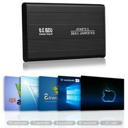 "External Backup Hard Drive Case USB 3.0 3TB Enclosure 2.5"" P"