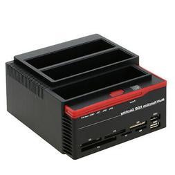 """2.5""""/3.5"""" USB3.0 to 2 SATA IDE External HDD Hard Drive Docki"""