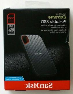 SanDisk Extreme Portable SSD 500GB External Hard Drive - NEW