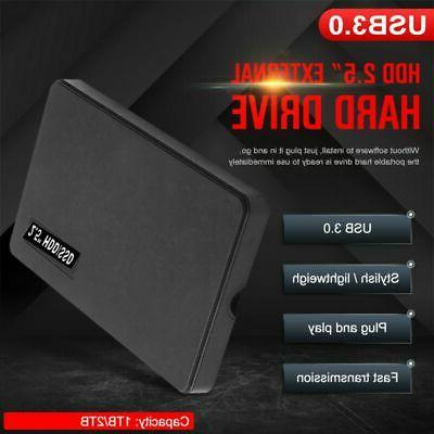 """2.5"""" External 2TB Ultra Slim Hard Disk Drive USB 3.0 Data Tr"""