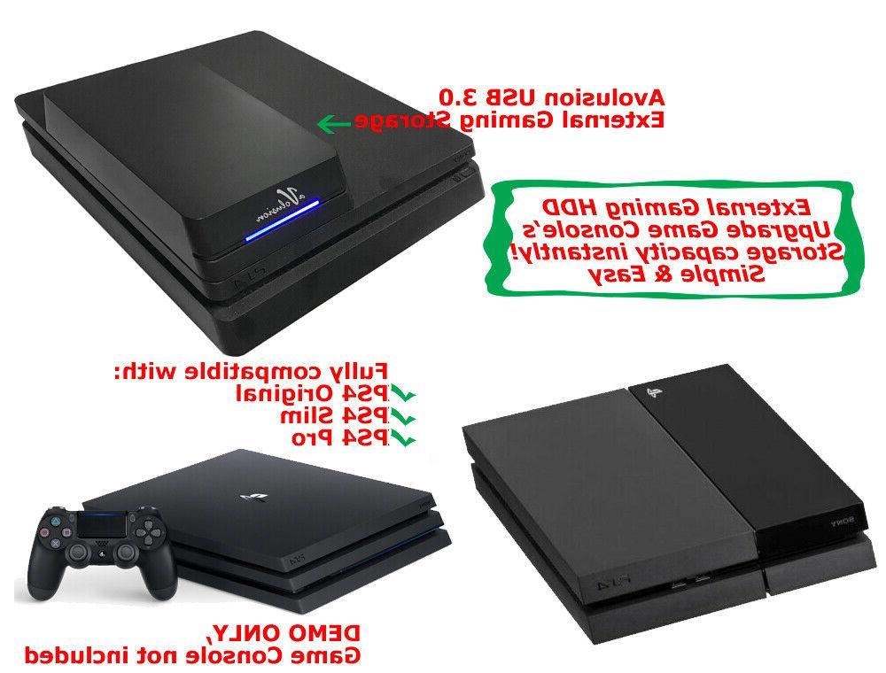 Avolusion External USB 3.0 Gaming Hard Drive - PS4, PS4 Pro