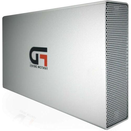 Fantom Drives 8TB Hard USB 3.2 Gen - Silver -