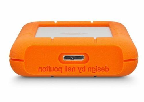 LaCie 9000633 Rugged Portable 4TB External Hard USB 3.0/USB WARRANTY