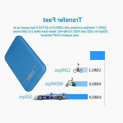"2.5""External Disk USB Portable HDD Box Case 3TB"
