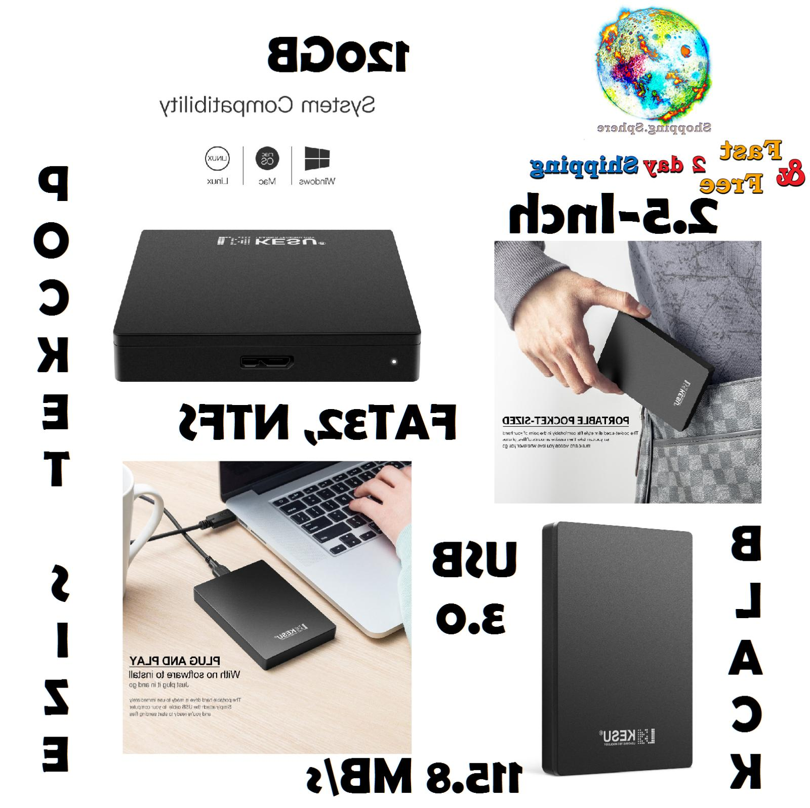 External Portable Hard Drive Usb 3.0 Data Storage Computer Accessories Laptop