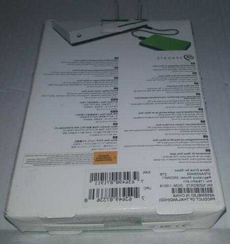 Seagate Game Xbox 2TB USB Model