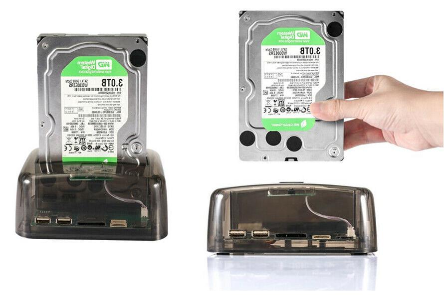 Hub USB 3.0 SATA DUAL Slots External