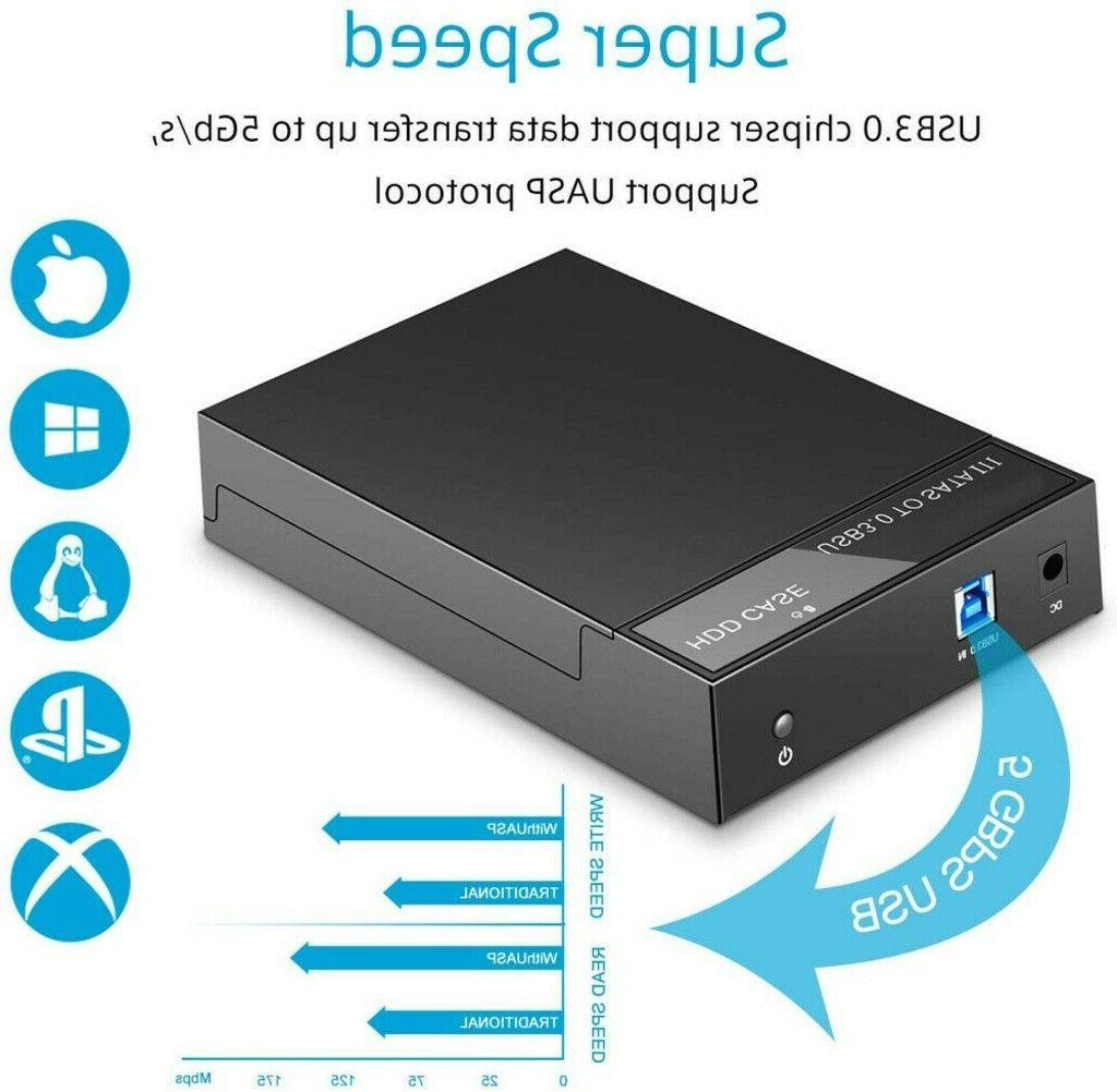 "2.5"" 3.5 inch Drive External Enclosure SATA to USB 3.0 Docking"