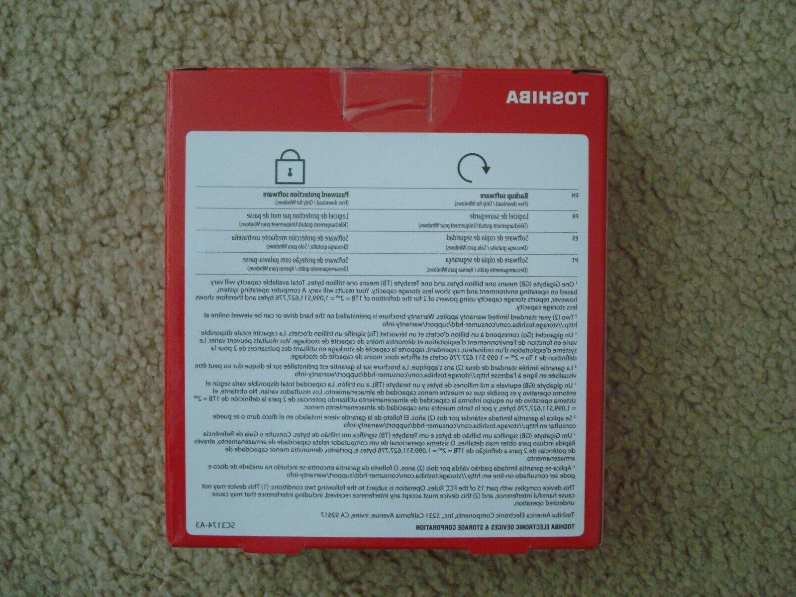 New Advance 2TB External Drive 3.0,Red,