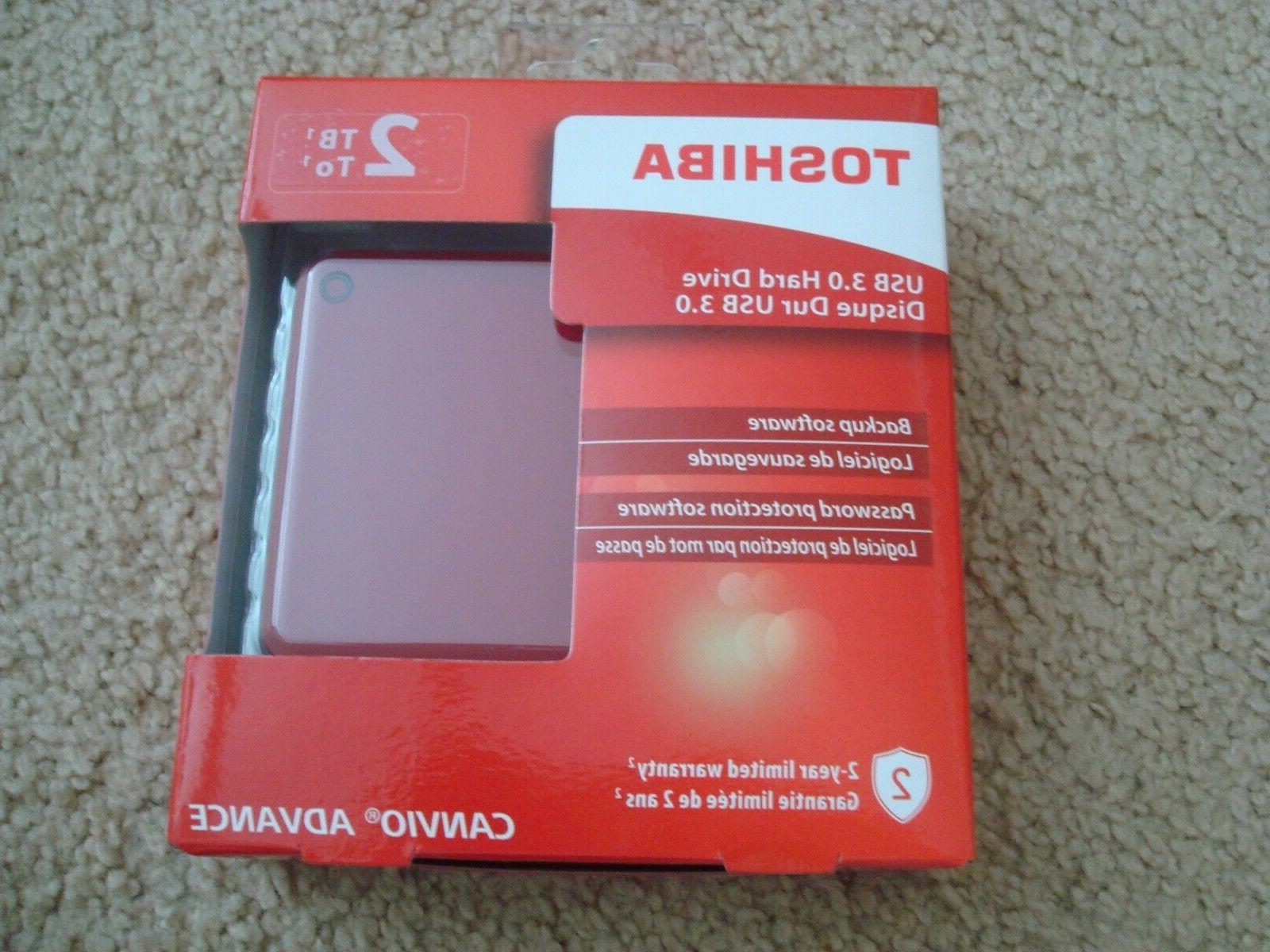 new canvio advance 2tb portable external hard