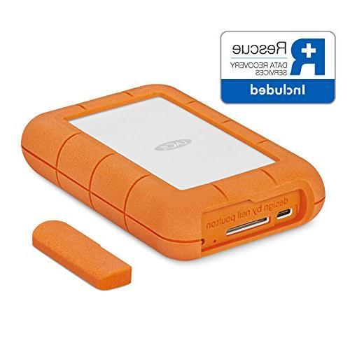 LaCie Rugged RAID 4TB Portable Hard Drive + 1mo