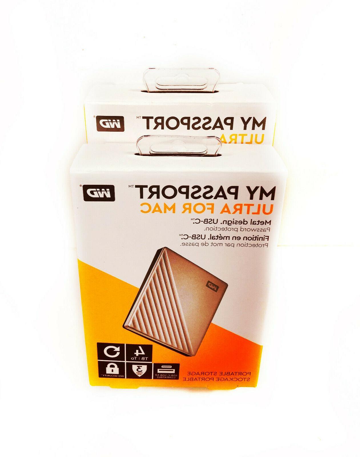 WD 4TB MyPassportUltra SilverPortable External Hard Dr