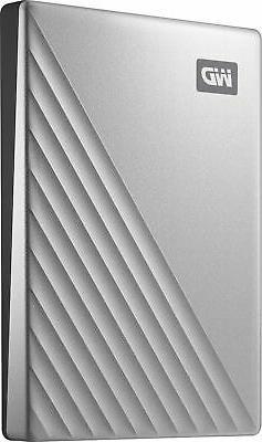 WD 2TB My Passport Ultra Silver Portable External Hard Drive