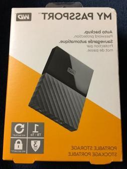 Western Digital My Passport WDBYNB0010BBK-WESN 1TB  Portable