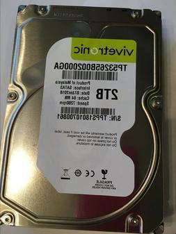 """NEw 2TB /2000GB 3.5"""" Internal Hard Drive 7200 RPM 64MB SATA"""
