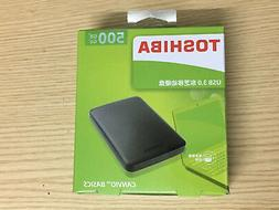 Portable External Hard Disk 500GB USB3.0 Black Toshiba For L