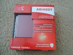 New Toshiba Canvio Advance 2TB Portable External Hard Drive