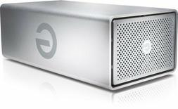 "NEW G-Tech G-RAID Silver 8TB 7200RPM 3.5"" USB 3.0 Dual Drive"