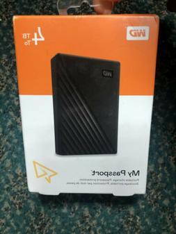NEW - Western Digital WD 4TB Black My Passport External Hard