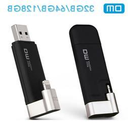 DM OTG Flash Drive For iPhone PC Dual Port Lightning USB 3.0