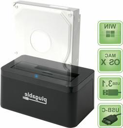 Plugable SATA Hard Drive Upright Dock - USB-C and USB 3.0 to