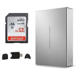 LaCie Porsche Design USB-C 4TB External Desktop Hard Drive +