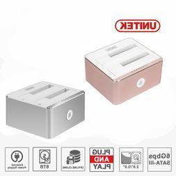 UNITEK USB 3.0 External hard drive 2.5/3.5 Clone DUAL Bay SA