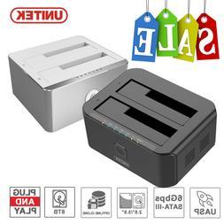 Unitek USB 3.0 HDD Docking Station DUAL Bay Offline Clone  2