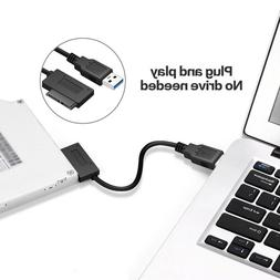 USB 3.0 to 7+6 13Pin Slimline SATA Cable for Laptop DVD/CD-R