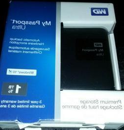 WD 1TB Black My Passport Ultra Portable External Hard Drive