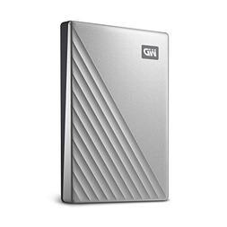 WD1TB MyPassportUltra SilverPortable External Hard D